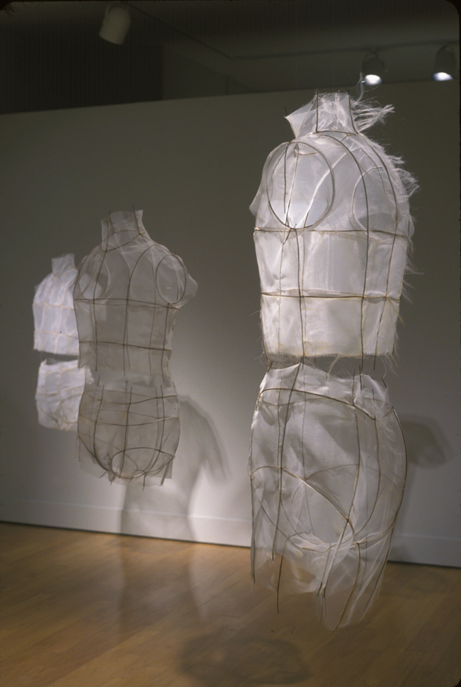 torso forms made of organza over wire